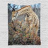 YISUMEI Tier Wandteppich Giraffe Wandtuch Digitaldruck Wandbehang Wohnaccessoires,130x150cm