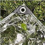 EIERFSKIOT Lonas Impermeables Exterior Lonas para pergolas Lona para Remolque Lona Transparente, Lona de PVC de 0,3 mm de Espesor, Impermeable, Resistente al desgarro con Ojal y ángulo Reforzado Idea