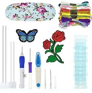 Pure besi Broderie Pen Kit Galopar Magie Broderie Pen Set Stick Machines Punch Aiguille Kit Tricot nähwerkzeuge pour brode...