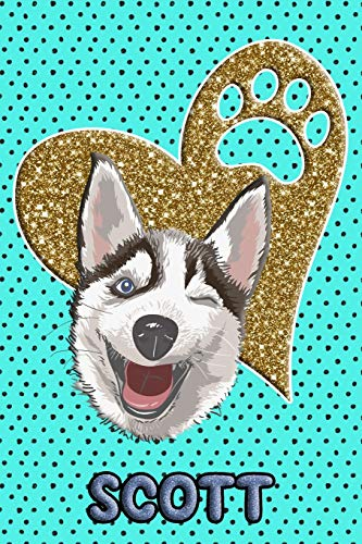 Husky Life Scott: College Ruled   Composition Book   Diary   Lined Journal   Blue