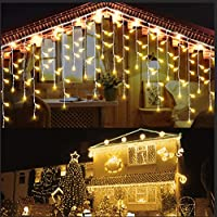 Ddmy Christmas 416 LEDs 34ft 8 Modes Decorations Raindrops Lights