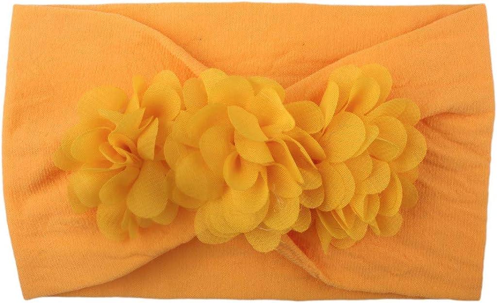 Fenleo Boutique Baby Turban Solid Accessories Flower Headwear