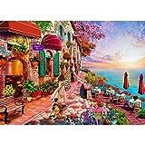 Puzle de 1000 piezas, puzzle para adultos, impossible rompecabezas, colorido juego de habilidad para toda la familia, la flor de la mañana y el mar