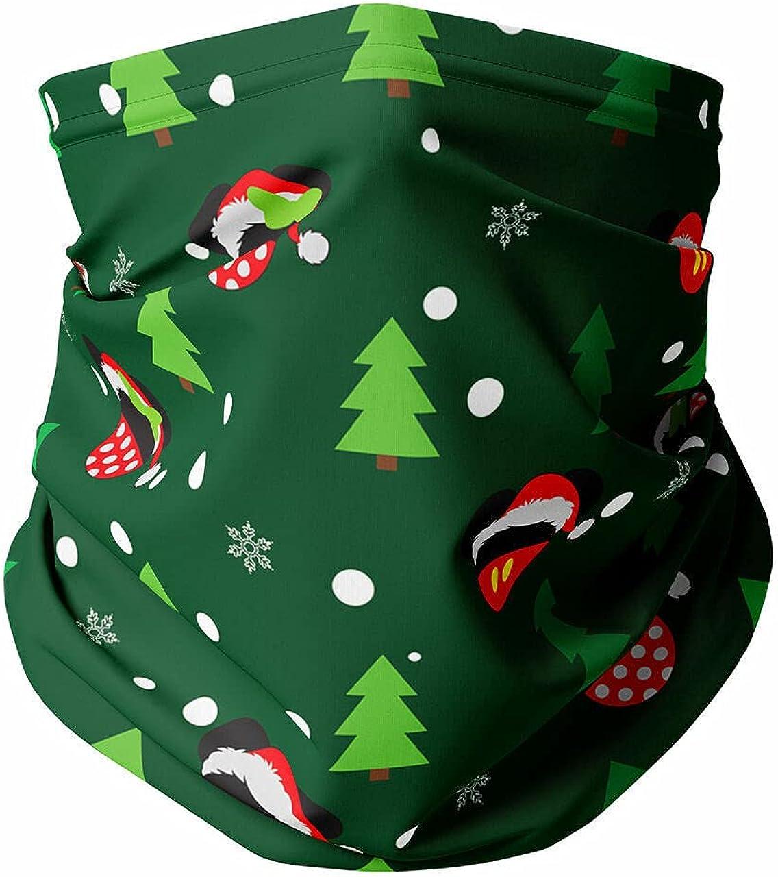 Neck Gaiter Face Covering - Christmas Santa Mickey & Minnie