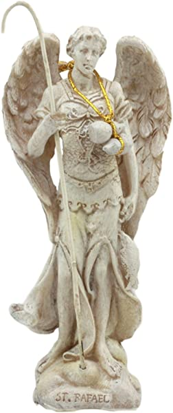 Ebros Ivory Painted Greek Orthodox Christian Church Archangel Of The Angelic Council Statue 5 Tall Figurine Raphael The Healing Of God