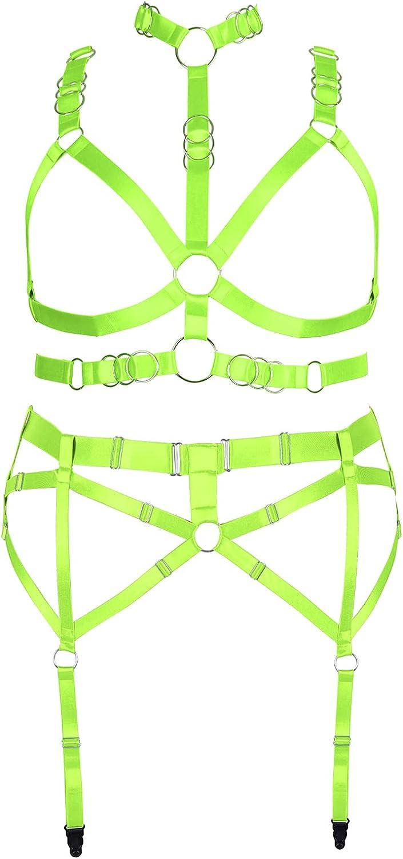 Plus Size Garter Belt Set Full Body Harness for Women Large Size Plump Lingerie cage Gothic Bra Punk Halloween Festival Rave