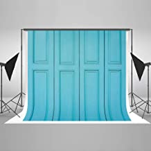 Kate 7x5ft Wood Wall Photography Background Blue Texture Wood Door Photo Backdrop Retro Portrait Photo Studio Background