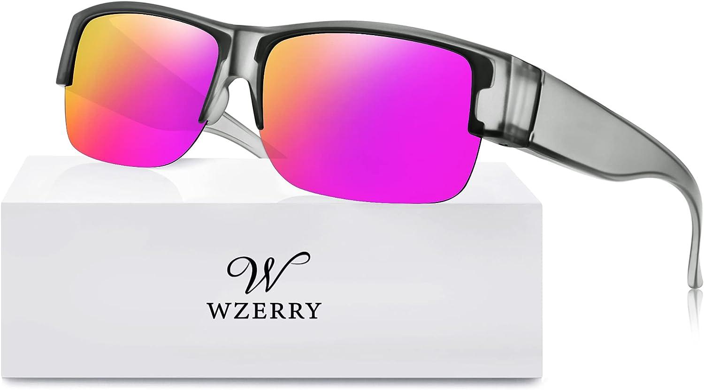 Polarized Max 57% OFF Sunglasses Fit Over Glasses Women for Wide Men Semi-R Ranking TOP16