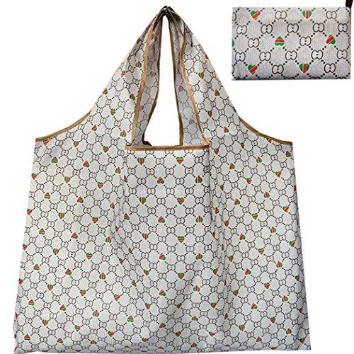 Lvptsh Einkaufstaschen Faltbare Wiederverwendbare Groß Shopper Tasche Lebensmittel Obst Einkaufstüten für Reisen Wasserdicht Umweltfreundlich Tragbar Strapazierfähig Einkaufsbeutel
