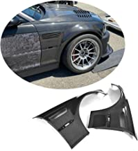 MCARCAR KIT Side Fender Vent fits BMW 3 Series E46 M3 Coupe Convertible 1998-2005 Factory Outlet Pure Carbon Fiber CF Front Air Intake Scoop Cover Trim