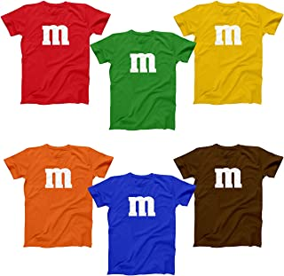 M Chocolate Candy Halloween Costume Outfit Funny Group Cool Party Mens Shirt