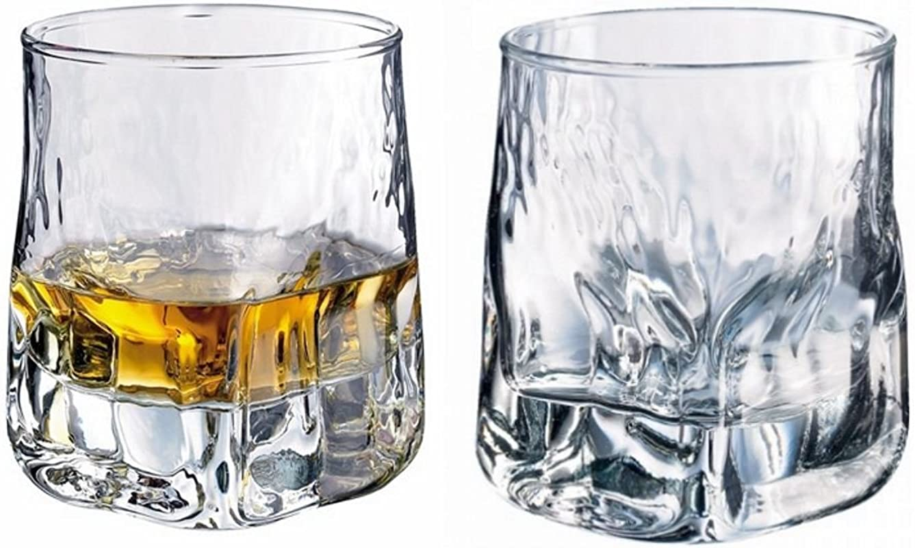 Durobor Set Of 2 Quartz Whisky Tumbler Glasses 11 6oz