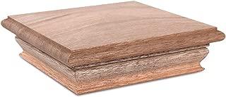 Woodway Pyramid 6x6 Post Cap – Premium Mahogany Wood Fence Post Cap, Newel Post Top 6 x 6, Fits Up to 5.5 x 5.5 Inch Post, 1PC