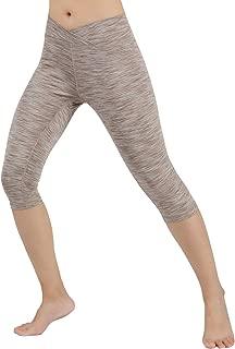 Women's Tummy Control Yoga Capris Non See-Through Workout Leggings with Pocket