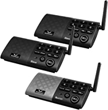 HOSMART Wireless Intercom System Two Way Communication Home and Office,with Crystal Clear Sound, 1000 feet Range(1 Main 2 ...