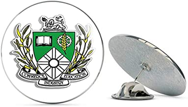NYC Jewelers Saskatoon Coat of Arms Crest Shaped (Saskatchewan City Canadian).5X inch Metal 0.75