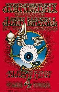Jimi Hendrix Experience Flying Eyeball Fillmore Winterland Concert Poster Replica 13x19 Photo Print
