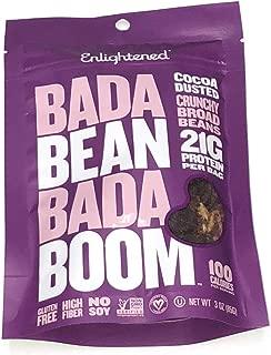 Enlightened Bada Bean Bada Boom Crunchy Broad Beans 3 oz - 6 Bags (BADA BEAN COCOA DUSTED 3oz 6PK)