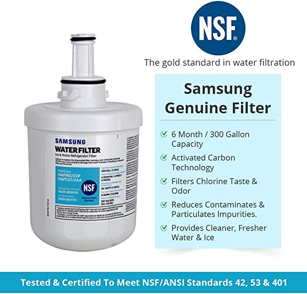 Samsung Genuine DA29 00003G Refrigerator Water Filter 1 Pack Packaging May Vary