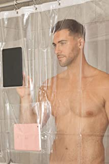 shower curtain with photo pockets