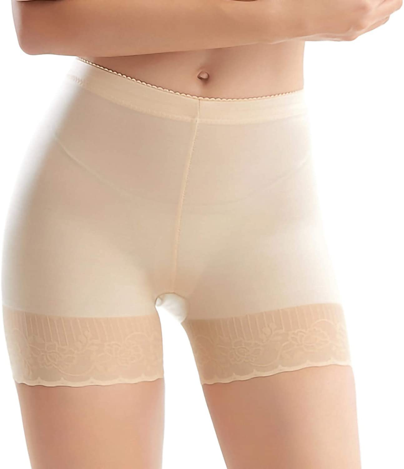 xoxing 1PC Women High Waisted Breech Buttock Raising Shaping Panties Breathable Plus Size Sexy Underpants(B)