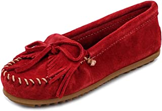[ミネトンカ]MINNETONKA 406 KILTY SUEEDE MOC RED size8 [並行輸入品]