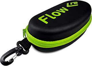 Flow Swim Goggle Case - Hard Protective Case for Swimming Goggles with Bag Clip for Backpack Available in 5 Colors