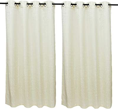 Set of 2 Window Curtains Nora Solid White by HomeTown