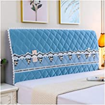 Bed Headboard Cover Slipcover Stretch Solid Color Protector Thicken Cotton Dustproof Covers for Queen King Size Wood Leath...