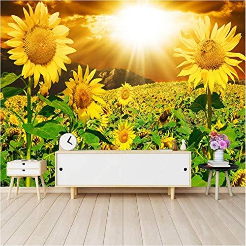 behang muurschildering op maat 3D foto behang zonlicht mooie zon bloem woonkamer bank slaapkamer tv achtergrond muur muurschildering niet-geweven behang 200x140cm
