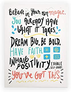 """Positive Quotes Wall Decor (12x16"""") You've Got This Sign Inspirational Canvas Wall Art for Classroom, Nursery, Playroom, T..."""