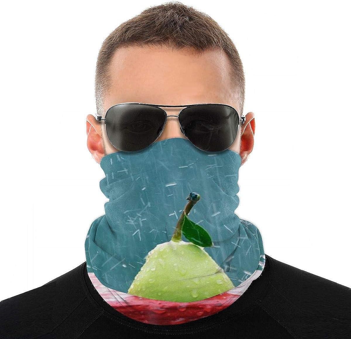 Pears Rain Headband Headwear Windbreak Scarf Face Mask Washable Dust Mask Balaclava Neck Bandana Double Print