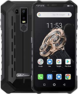 QUZH Cell Phones Smartphone Armor 6S Rugged Phone, Dual 4G & VoLTE, 6GB+128GB, IP68/IP69K Waterproof Dustproof Shockproof, Face ID & Fingerprint Identification, 5000mAh Battery, 6.2 inch Android 9.0 H