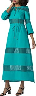 APART Fashion Dress with Inserts Robe, Turquoise (Türkis Türkis), 40 (Taille Fabricant: 38) Femme