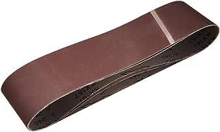 """4""""x 36"""" 240 kornslipbälte Aluminiumoxid sandpappersbälten för bärbar rems slipmaskin träfinish metall gips polering slipni..."""