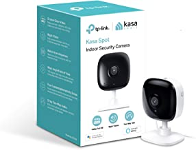 Kasa Spot Indoor Camera, 1080P HD Smart Wifi Security Camera, Night Vision, Motion Detection, Works with Google Assistant and Alexa (KC100)