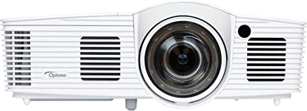 OPTOMA TECHNOLOGY  GT1080Darbee 1080p 3000 Lumens 3D DLP Short Throw Gaming Projector, White