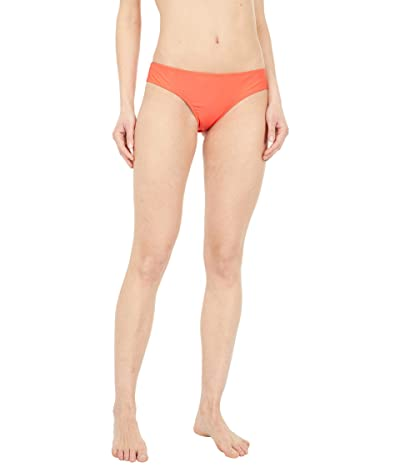Volcom Simply Solid Cheeky Bottoms (Electric Coral) Women