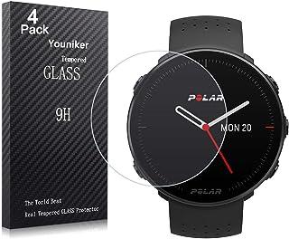 Youniker 4 Pack voor Polar Vantage M Screen Protector Gehard Glas voor Polar Vantage M Horloge Screen Protectors Folies Gl...
