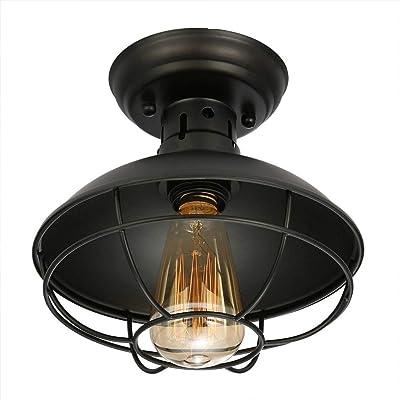 Amazon Com Baiwaiz Industrial Ceiling Light With Pull