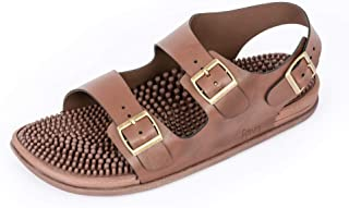 Revs Premium Acupressure & Reflexology Massage Trek Sandals for Men & Women. Shock Absorbing, Comfortable Cushion Footbed & Arch Support.