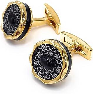Gryphon الفاخرة أزرار أكمام للرجال، الذهب أزرار أكمام الفولاذ المقاوم للصدأ مجموعة هدية