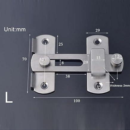 Laiton//Chrome 100 mm-avec vis Sécurité Porte Chaîne