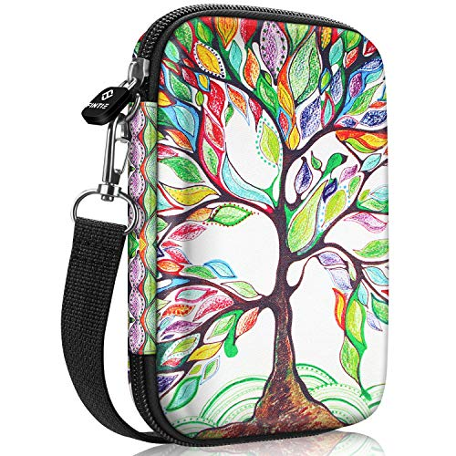 Fintie Tas voor HP Sprocket Plus/FUJIFILM Instax Mini Link Fotoprinter Premium Kunstleer Gecoate Sterke Eva-hardschalen Fotoprinter Draagtas Case Cover Hoes Etui Bescherming, Love Tree