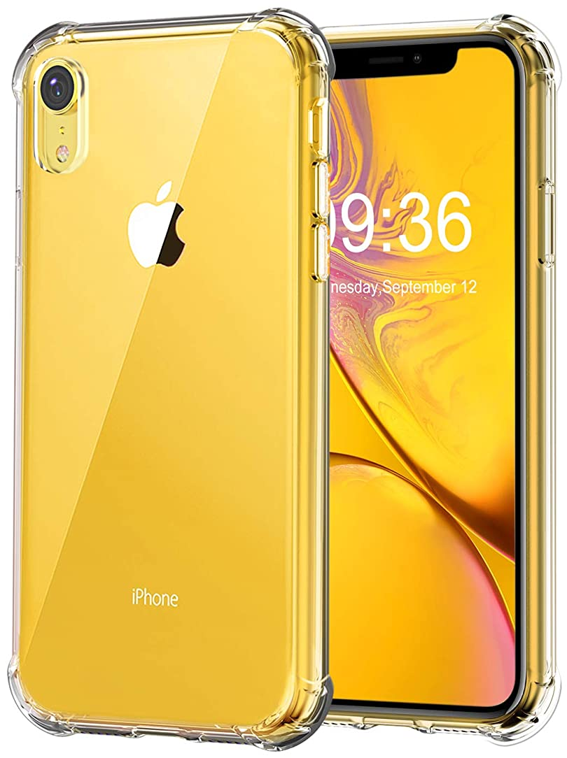 Matone for iPhone XR Case, Crystal Clear Slim Protective Cover with Reinforced Corner Bumpers, Flexible Soft TPU Anti-Scratch Case for Apple iPhone XR (2018) 6.1-Inch