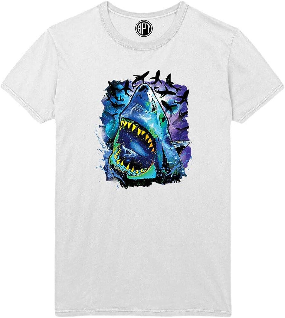 Neon Cosmo Shark Printed T-Shirt