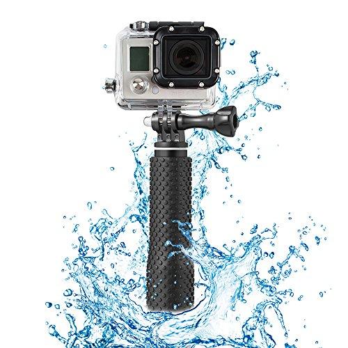 "Foretoo Selfie Stick for GoPro,19""Waterproof Hand Grip Adjustable Extension Monopod Pole for Gopro Hero 6 5 4 3+3 2 1 AKASO, Xiaomi Yi,SJCAM SJ4000 SJ5000 (with Wrist Strap and Screw) (19"