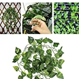 HEEPDD 6.89ft Long Reptile Vines Artificial Fake Leaves Flexible Jungle Climber for <span class='highlight'>Reptiles</span> and <span class='highlight'>Amphibians</span> Habitat Decor(Scindapsus Leaves)