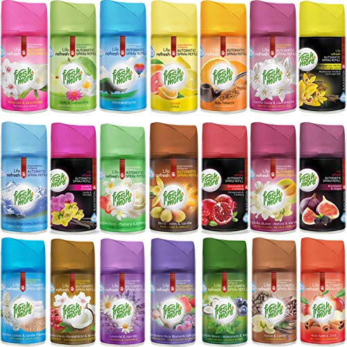 12x Fresh & More Mix Paket Lufterfrischer Für Automatische Duftspender -250ml