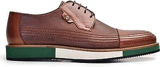 3840-530 KEVA REKLI EVA-Antik Safran 203 - Chi Bsk Nevzat Onay Bağcıklı Safran Rengi Günlük Deri Erkek Ayakkabı